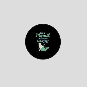 Modern Family Mermaid Cat Mini Button