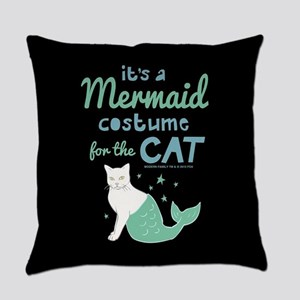 Modern Family Mermaid Cat Everyday Pillow