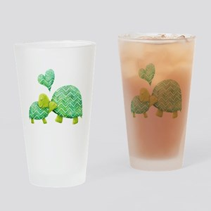 Turtle Hugs Drinking Glass