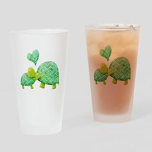 Turtle Hugs Drinking Glass