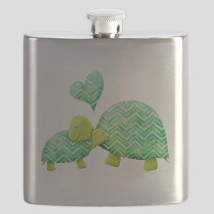 Turtle Hugs Flask