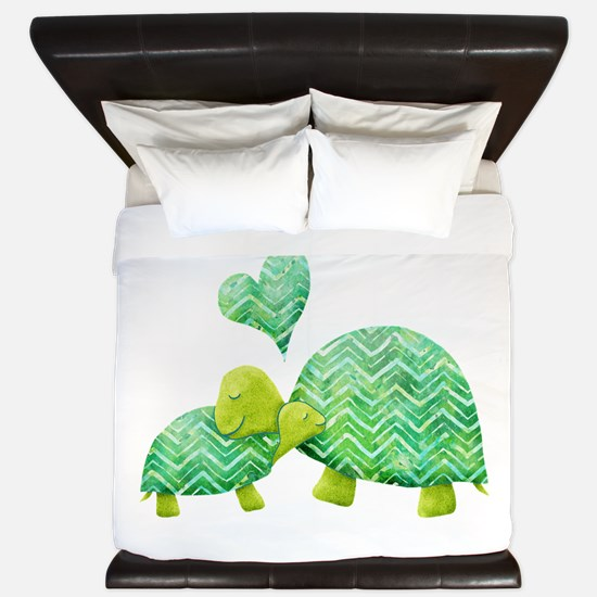 Turtle Hugs King Duvet
