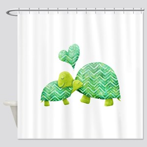 Turtle Hugs Shower Curtain