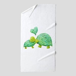 Turtle Hugs Beach Towel