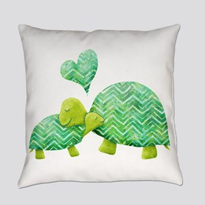 Turtle Hugs Everyday Pillow
