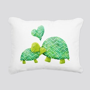 Turtle Hugs Rectangular Canvas Pillow