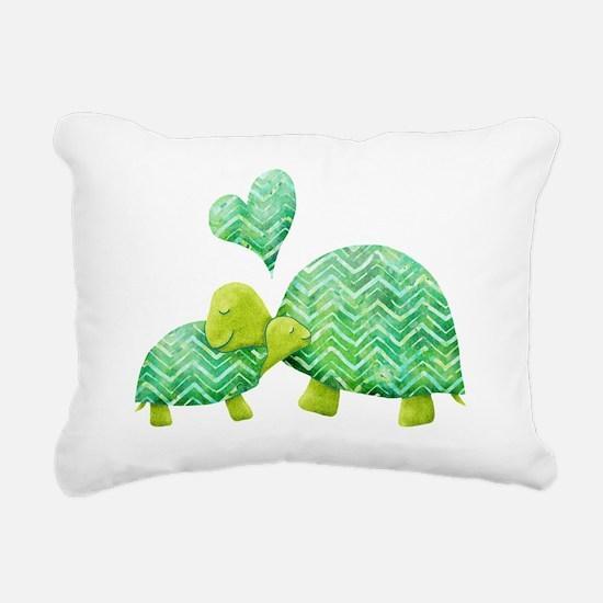 Turtle Hugs Rectangular Canvas Pillow