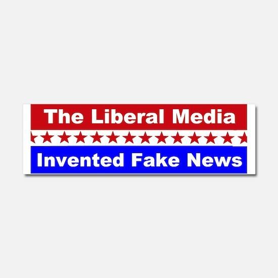 Liberal Media Invented Fake News Car Magnet 10 x 3