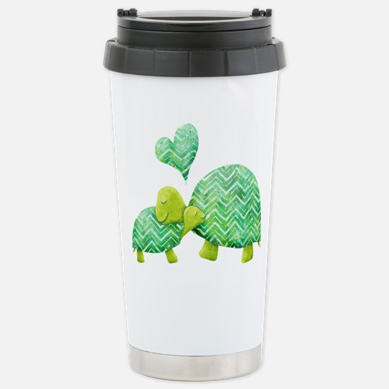 Turtle Hugs Stainless Steel Travel Mug