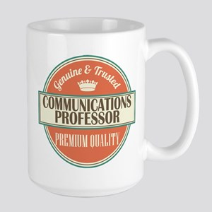 communications professor vintage logo Mugs