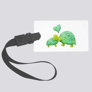 Turtle Hugs Large Luggage Tag