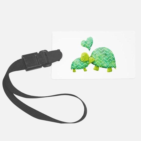 Turtle Hugs Luggage Tag
