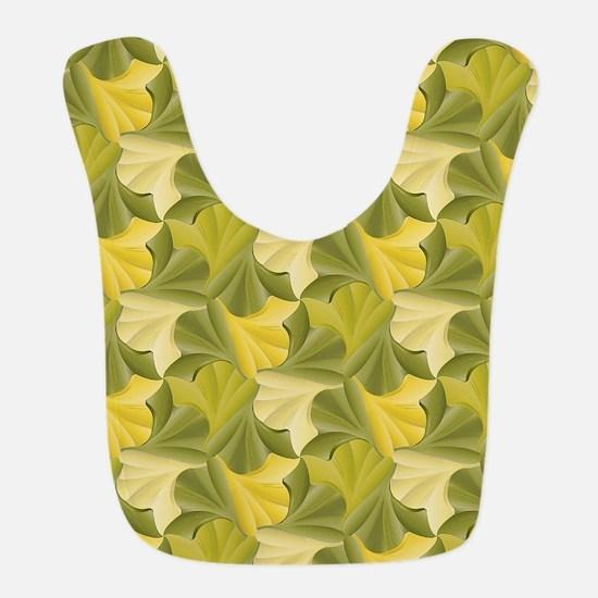Ginkgo Leaf Foliage Tessellatio Polyester Baby Bib