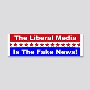 Liberal Media Fake News Car Magnet 10 x 3
