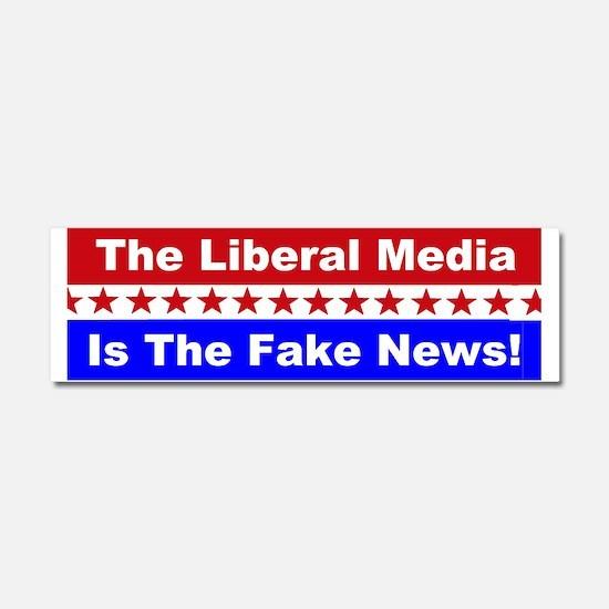 Liberal Media Fake News Car Magnet 10 x 3