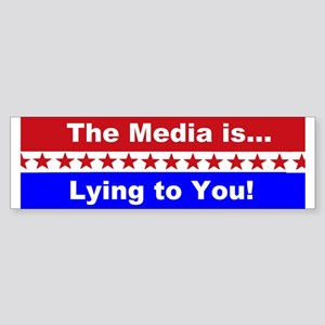 Liberal Media Lying Sticker (Bumper)