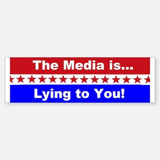 Liberal Media Lying Sticker (Bumper)