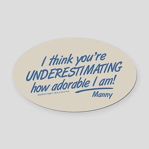 Modern Family Underestimating Oval Car Magnet