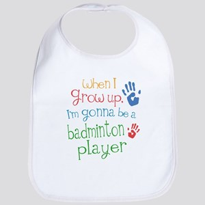 badminton_player_future Baby Bib