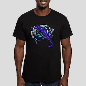 Sea horse purple fish Men's Fitted T-Shirt (dark)