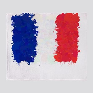 Flag of France (Ink Spots) Throw Blanket