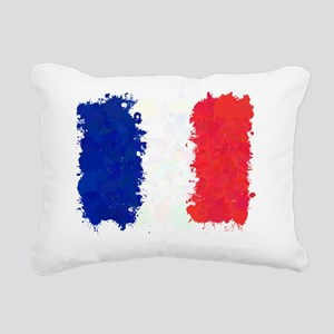 Flag of France (Ink Spot Rectangular Canvas Pillow