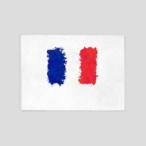 Flag of France (Ink Spots) 5'x7'Area Rug