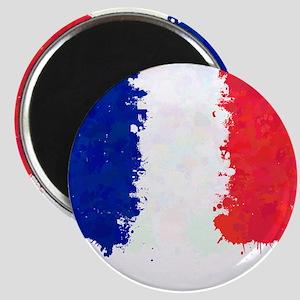 Flag of France (Ink Spots) Magnets