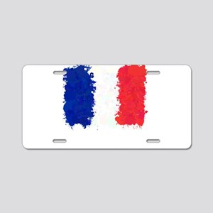 Flag of France (Ink Spots) Aluminum License Plate