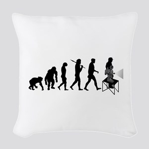 Film Projectionist Woven Throw Pillow