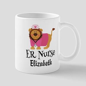 Personalized ER Nurse Gift Mugs