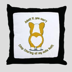 Admit it Corgi Butt Throw Pillow