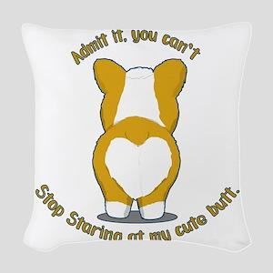 Admit it Corgi Butt Woven Throw Pillow