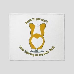 Admit it Corgi Butt Throw Blanket