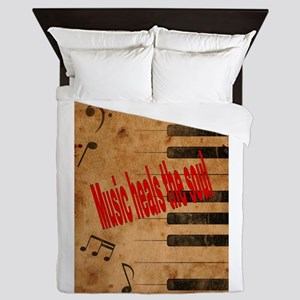 Music heals the soul Queen Duvet