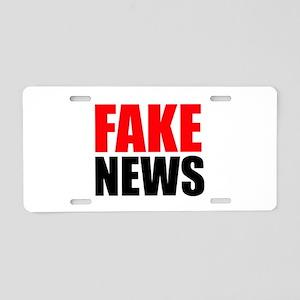 Fake News Aluminum License Plate