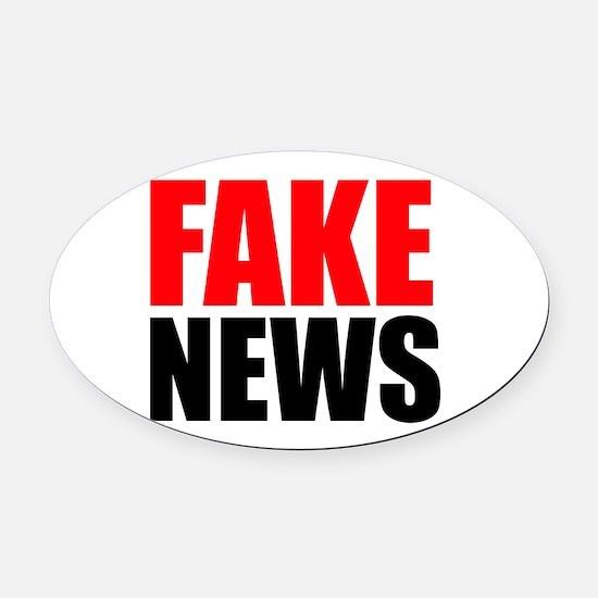 Fake News Oval Car Magnet