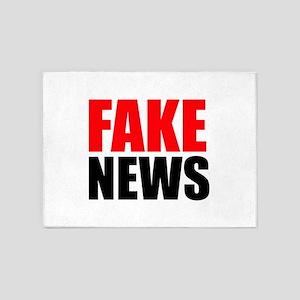 Fake News 5'x7'Area Rug