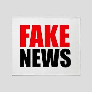 Fake News Throw Blanket
