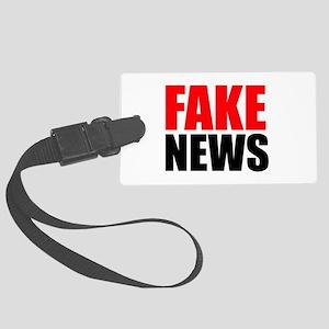 Fake News Luggage Tag