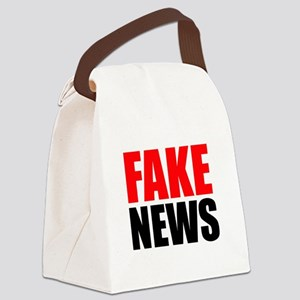 Fake News Canvas Lunch Bag