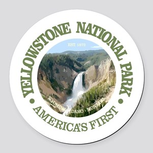 Yellowstone NP Round Car Magnet