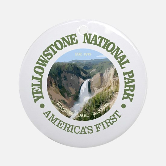 Yellowstone NP Round Ornament