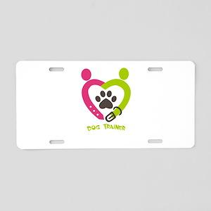 dog trainer Aluminum License Plate