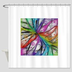 Kaleidoscope Dragonfly Shower Curtain