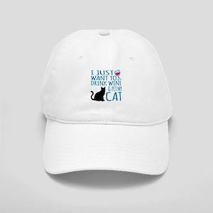 Drink Wine and Pet My Cat Cap