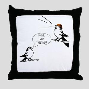 Donald Trump Tweeting Throw Pillow