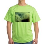 p2511. wavecrash, downcape  Green T-Shirt