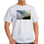 p2511. wavecrash, downcape  Ash Grey T-Shirt