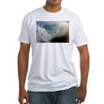 p2511. wavecrash, downcape  Fitted T-Shirt